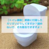 【トイレ掃除】便器に付着したガリガリどうしてますか?諦めないで、それ除去できますよ!