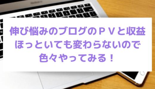 【SEO】伸び悩みのブログのPVと収益、ほっといても変わらないので色々やってみる!