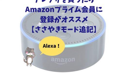 アレクサを買ったらAmazonプライム会員に登録がオススメ【ささやきモード追記】