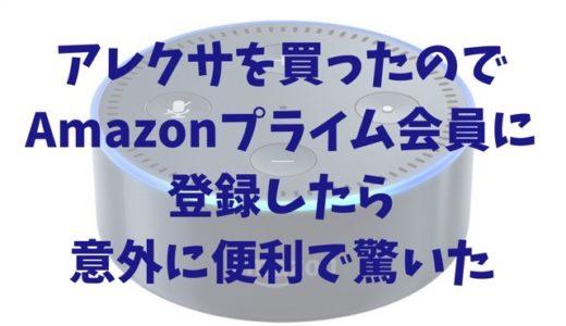 アレクサを買ったのでAmazonプライム会員に登録したら意外に便利で驚いた【ささやきモード追記】
