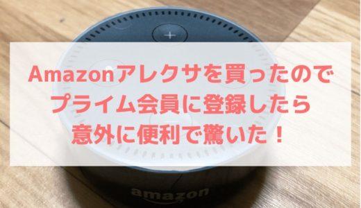 Amazonアレクサを買ったのでプライム会員に登録したら意外に便利で驚いた!