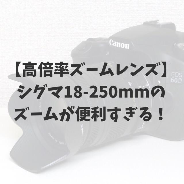 シグマ18-250mm
