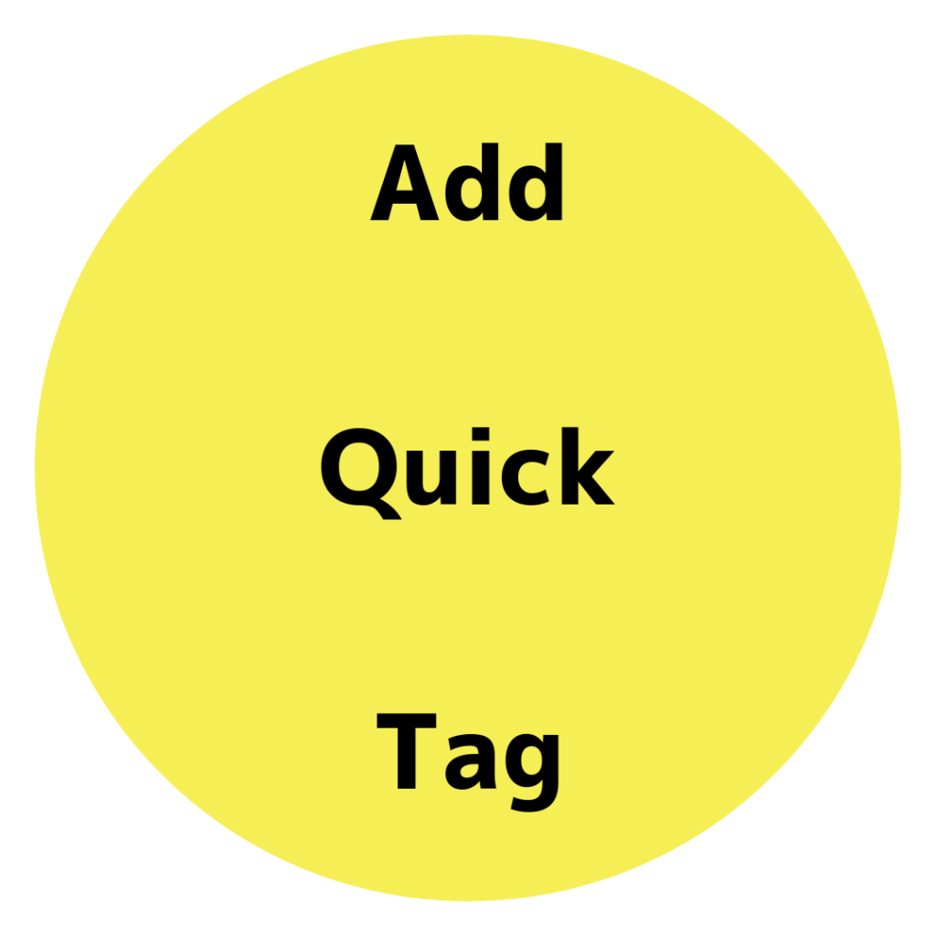 Add Quick Tag