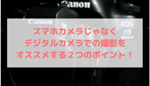 スマホカメラじゃなくデジタルカメラでの撮影をオススメする2つのポイント!