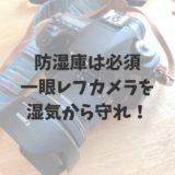 防湿庫は必須、一眼レフカメラを湿気から守れ!