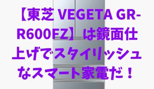 【東芝 VEGETA GR-R600FZ】は鏡面仕上げでスタイリッシュなスマート家電だ!