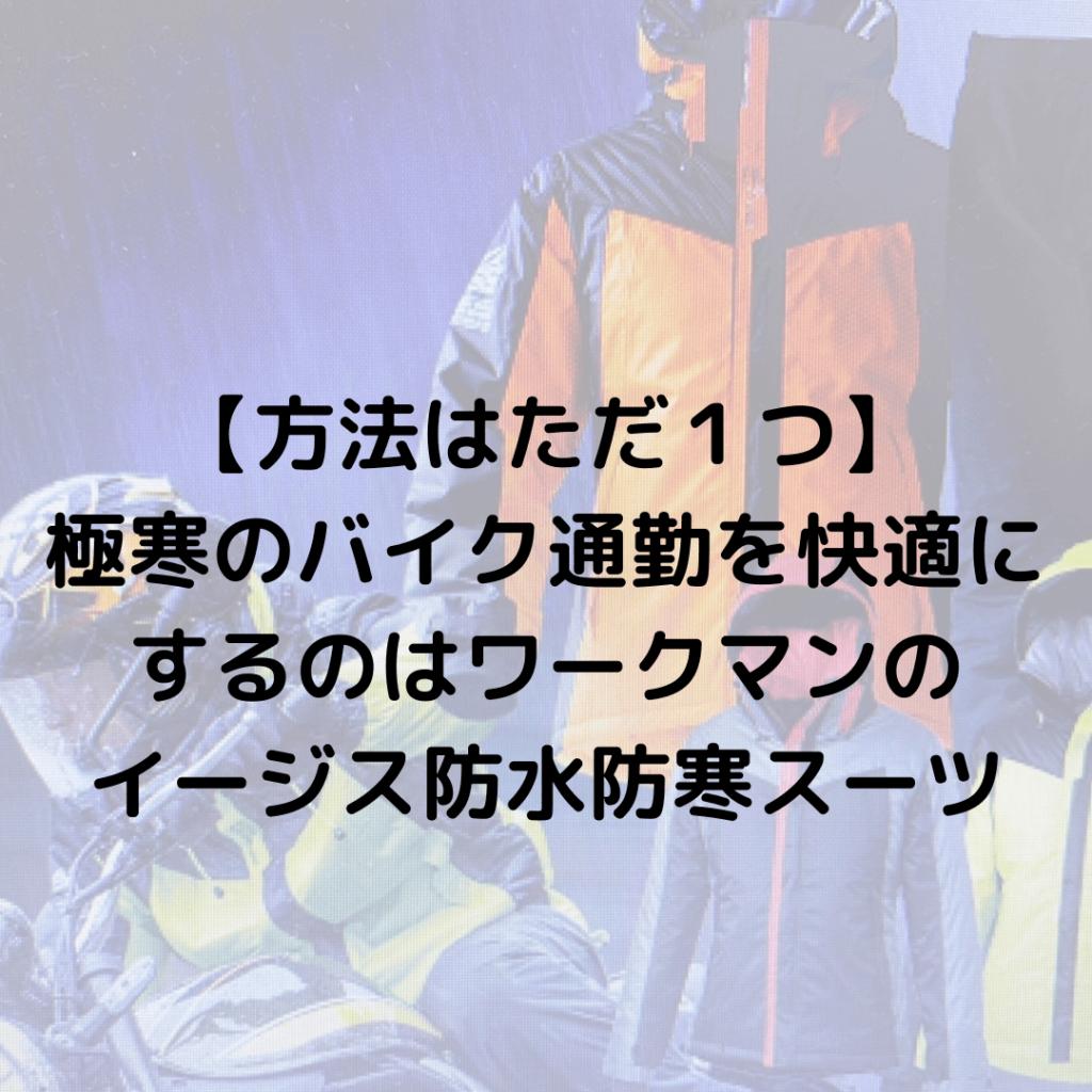 ワークマン イージス防寒スーツ
